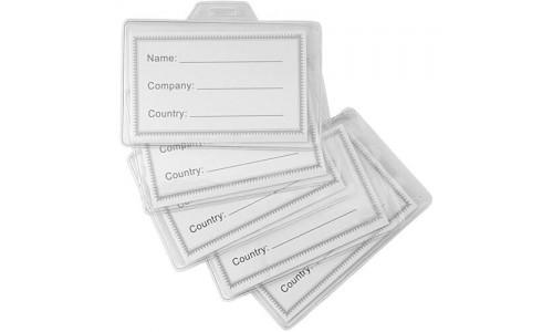 Porta badge trasparente personalizzabile