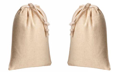 Sacchetti in cotone naturale 10 x 14 personalizzate