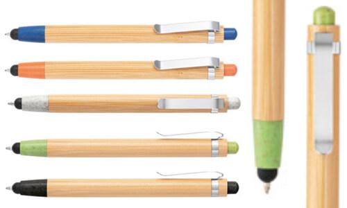 Penne a sfera in bambù BENJAMIN personalizzate