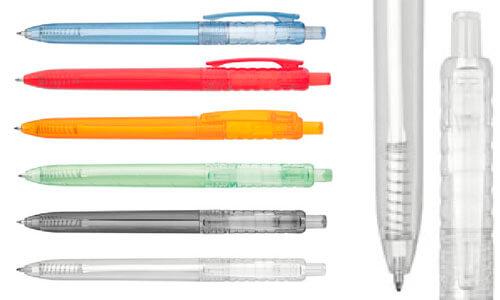 Penna a sfera in materiale PET riciclato promozionale