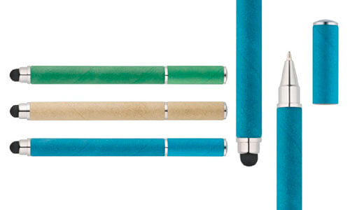Penna a sfera in carta kraft e ABS promozionale
