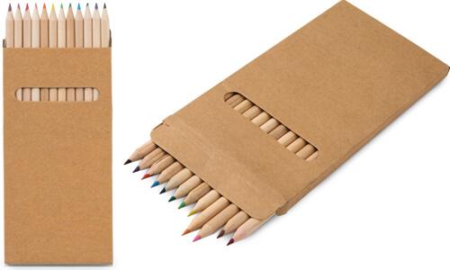 Scatola con 12 matite colorate CROCO personalizzabili