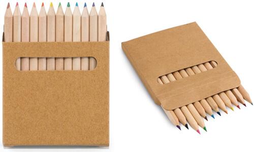 Scatola con 12 matite colorate COLOURED personalizzate