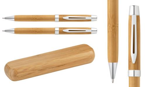 Penna a sfera in bambù con il tuo logo