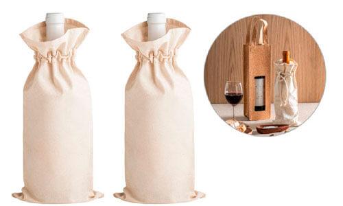 Borse per bottiglia in cotone personalizzate