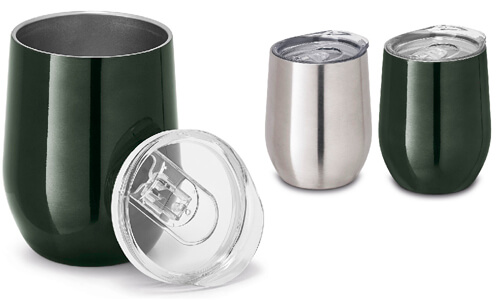 Bicchiere da viaggio acciaio inox stampabile
