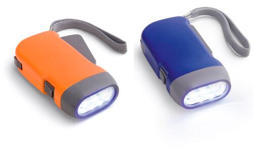 Torcia a dinamo 3 LED Stampa la tua Pubblicità