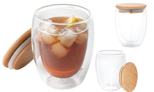 Bicchiere da viaggio in vetro personalizzabili