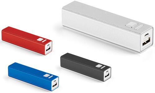 Batteria portatile con il marchio inciso al laser