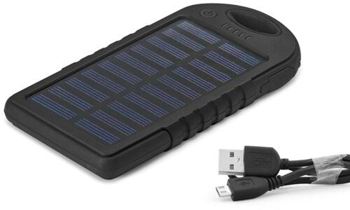 Batteria portatile in ABS e finiture in gomma con il tuo logo
