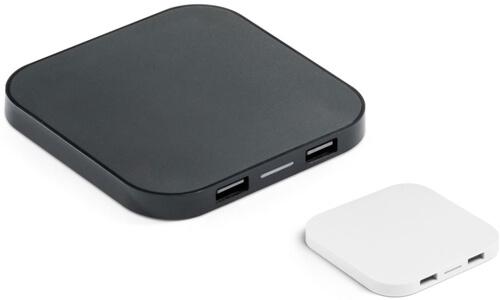 Caricatore wireless e hub CAROLINE Stampa il tuo logo