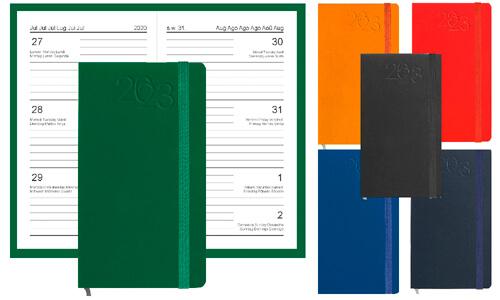 Agende tascabili dimensioni 9x14 cm Multilingue