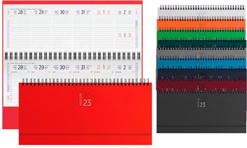Planning da scrivania Spiralati settimanali disponibili in vari colori