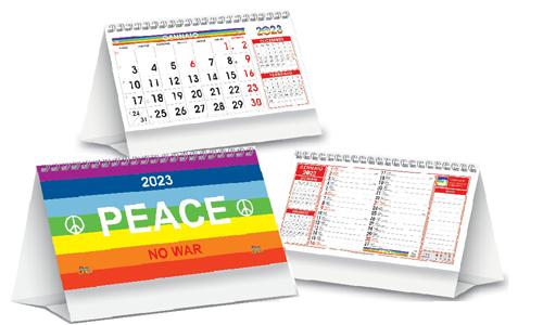 Calendario con grafica trimensile