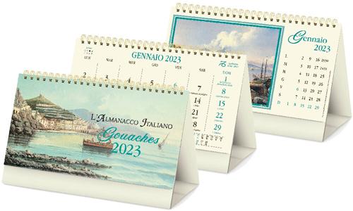 Calendari da tavolo GOUACHES Personalizzali con il tuo logo