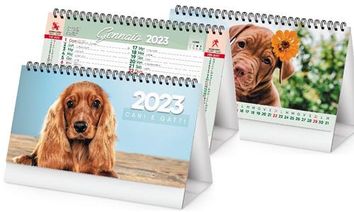 Calendario con foto cuccioli cani e gatti