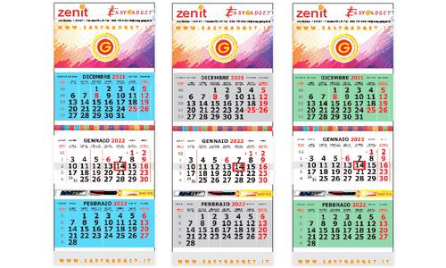 Calendari Trittici con Antine