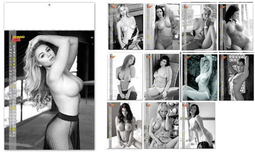 Calendari Murali personalizzati donne Sexy