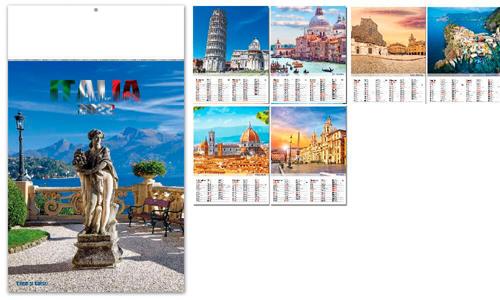 Calendari Con grafica in coda carta avoriata