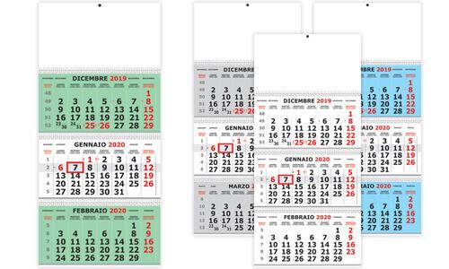 Calendario Trittico olandese 3 spirali