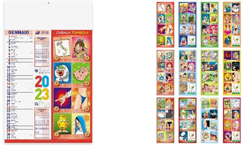 Calendario illustrato CABALA promozionale