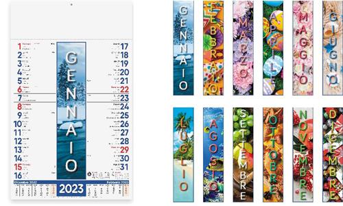 Calendario illustrato 4 STAGIONI con il tuo logo