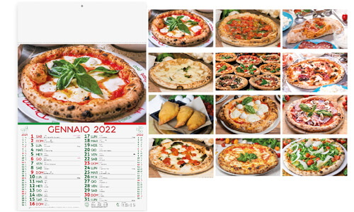 Calendario Illustrato Pizza
