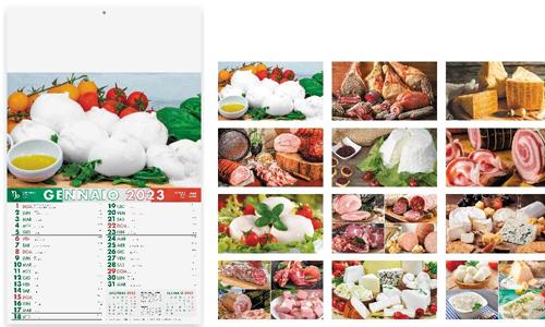 Calendario illustrato PRODOTTI TIPICI personalizzabile