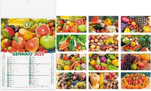 Calendario illustrato FRUTTA E VERDURA con il tuo logo