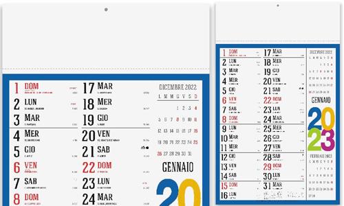 Calendario Olandese  SWEDISH Promozionali