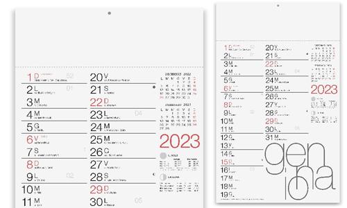 Calendari Murali tipo olandese impaginazione in stile Moderno
