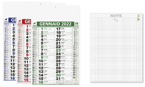Calendario olandese BACK NOTES personalizzabile
