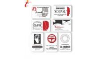 Calendarietto Card biglietto vistita rosso/nero