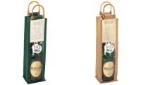 Porta bottiglie con manici in bamboo