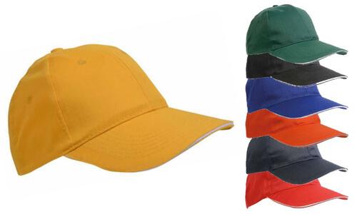 Cappellino a sei pannelli cotone e poliestere
