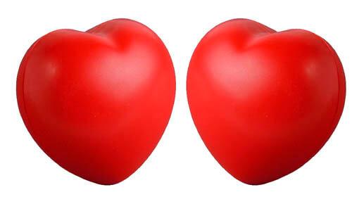 Antistress forma di cuore personalizzabili