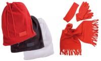 Set sciarpa guanti fascia