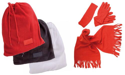 Set pile sciarpa guanti fascia personalizzato
