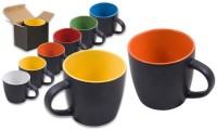 Tazza ceramica esterno opaco bicolor