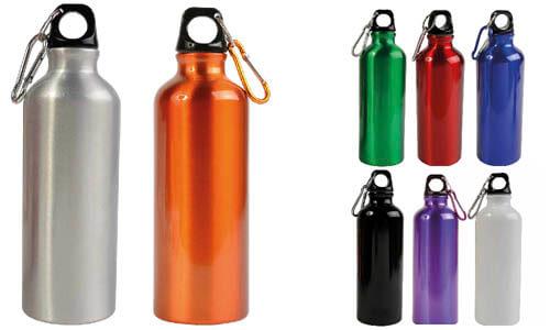 Bottiglia sport alluminio colorato personalizzata