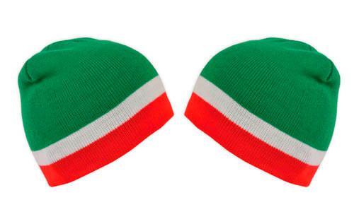 Cappellino zuccotto - grafica tricolore italiano
