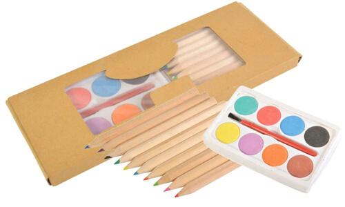 Set 10 matite colorate personalizzabile con il tuo logo