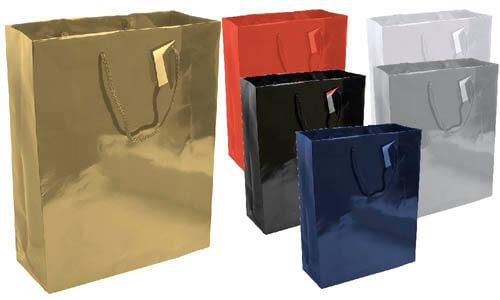 Shopper in carta laminata medie dimensioni