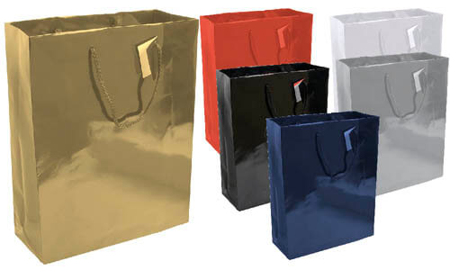 Shopper in carta laminata e soffietto