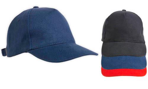 Cappellino in cotone pesante a 5 pannelli con regolazione in metallo