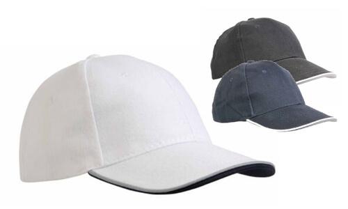 Cappellino in cotone pesante a 6 pannelli con chiusura in velcro