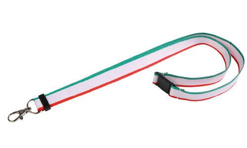 Nastro collo lanyard tricolore personalizzabili