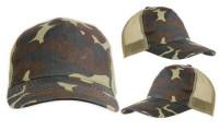 Cappellino mimetico con rete