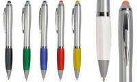 Penna twist fusto argentato