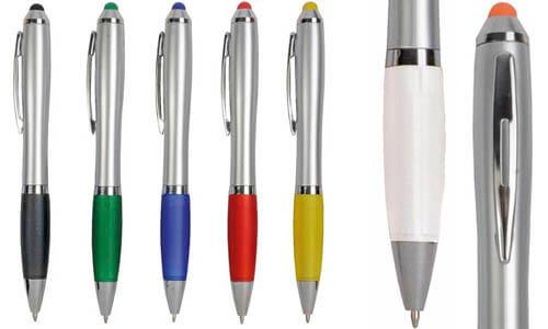 Penna twist fusto argentato Stampa il tuo logo